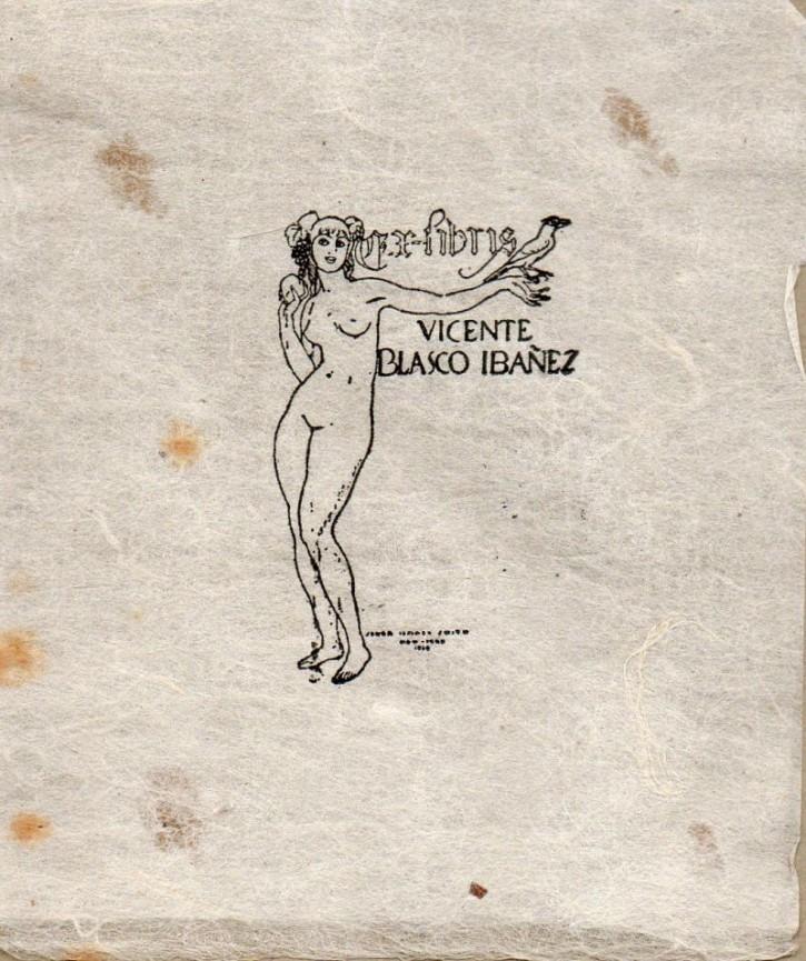 Ex-libris Vicente Blasco Ibáñez