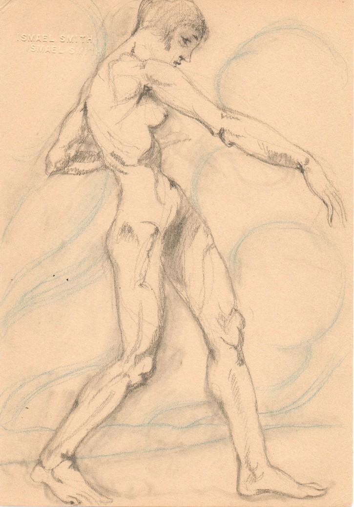 Desnudo caminando. Smith, Ismael. 1919. Precio: 1200€