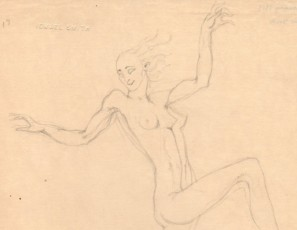 Naked woman on a cercle