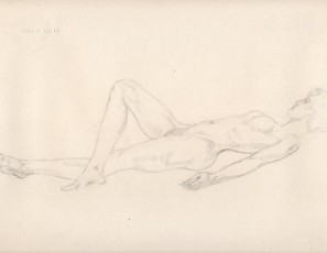 Laying naked woman