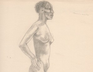Black naked woman