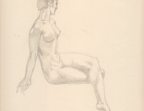 Seated naked woman