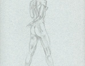Naked woman from back