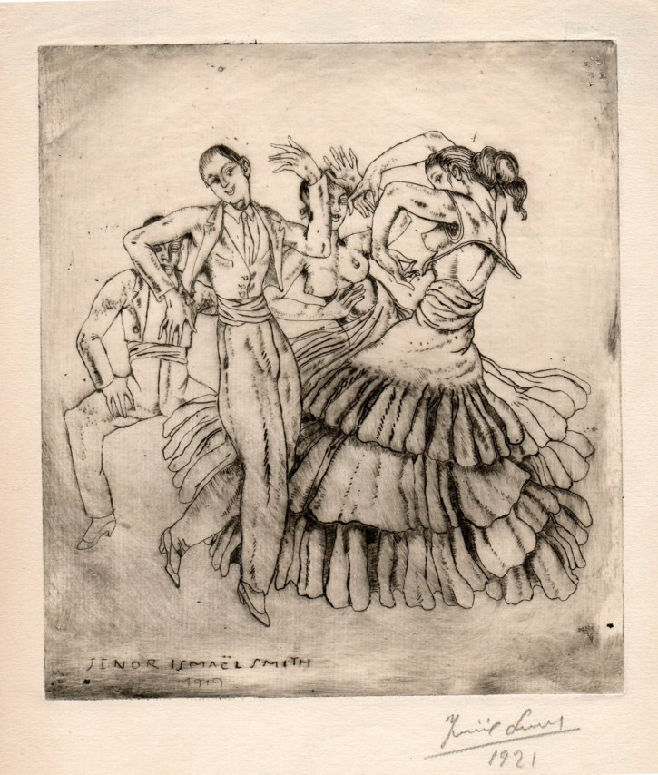 Gipsy party / Farruca (Smith, Ismael) - 1919 - [Play time and Fiesta, Catalonia, XX, Etching, Wove paper]
