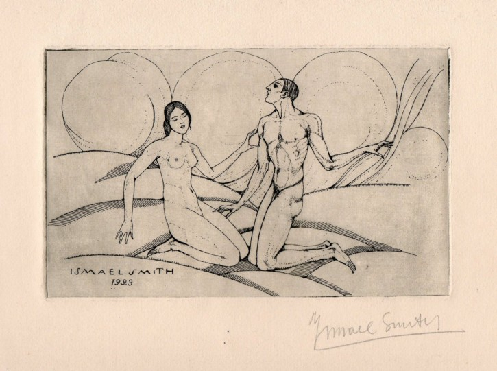 Adán y Eva (Smith, Ismael) - 1923 - [Religion, Catalonia, XX, Etching, Watermark wove paper]