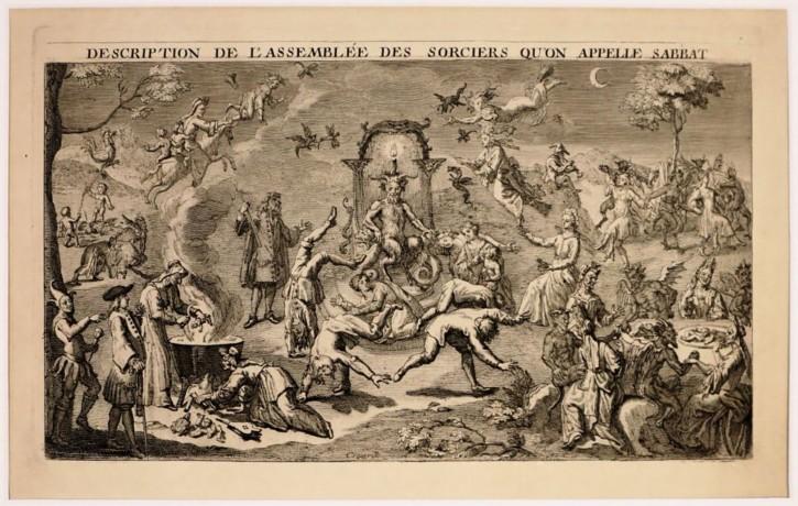 Escena de brujas (Anónimo - Spranger, Bartholomeus) - 1710 - [De Diosas a Brujas, Países Bajos, XVIII, Aguafuerte y buril, Papel verjurado, Últimas adquisiciones]