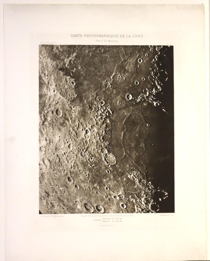 Carte Photographique de la Lune 2 (Morvan, C. L. - Massard, L.) - 1902 - [Explorar la Luna, Francia, XX, Heliograbado, Papel vitela, Últimas adquisiciones]