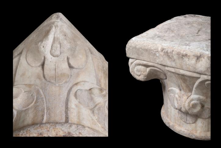 Pareja de capiteles de mármol, siglo XVI () -  - [Spain / Italy, Marble]