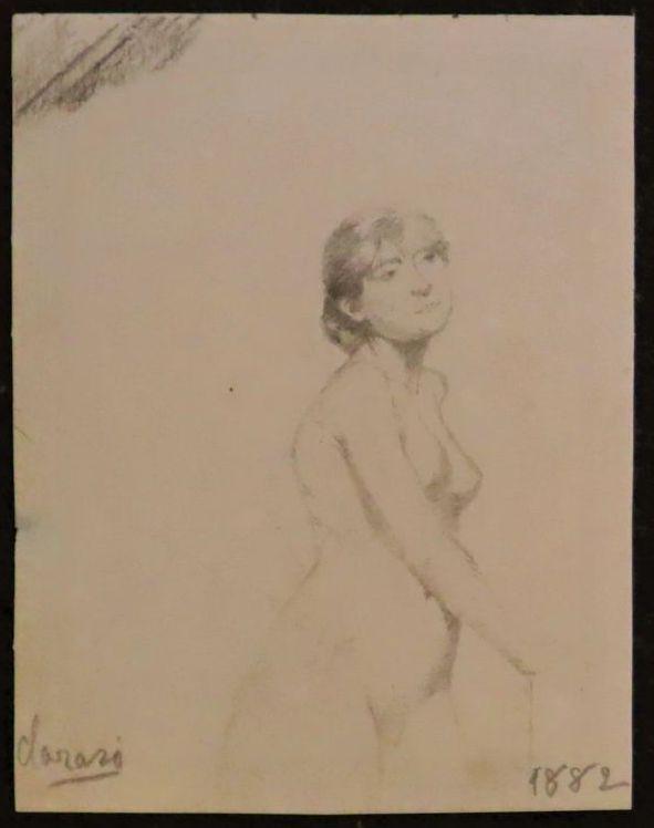 Tres dibujos de modelos. Clarasó, Enric. 1882. Precio: 750€