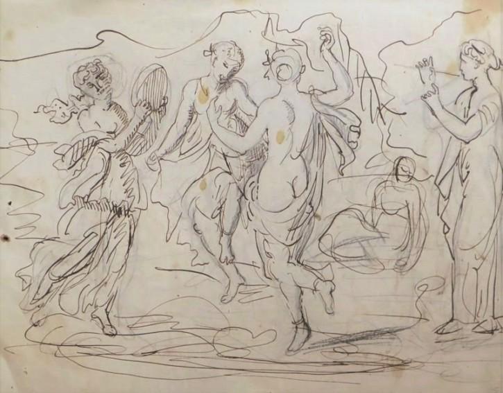 Lucha de gladiadores. Anónimo. Primer tercio siglo XIX. Precio: 250€