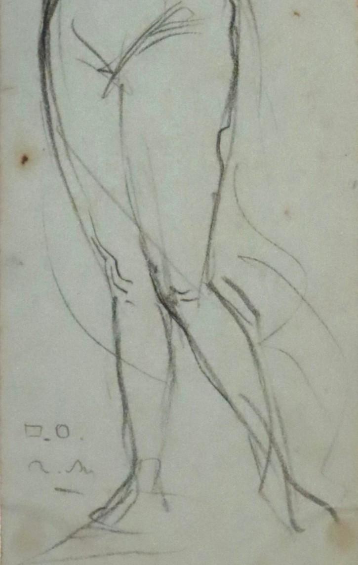 Mujer desnuda con el brazo estirado. Martí Alsina, Ramón. Ca. 1860-1870. Precio: 400€